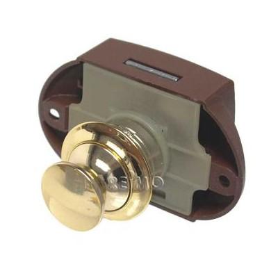 Push Lock - meubelslot goud