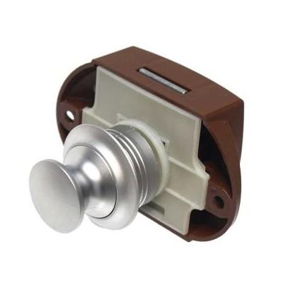 Push Lock - meubelslot Mat aluminium