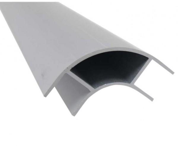 Aluminium meubelhoekprofiel 2,2m, aan beide zijden open