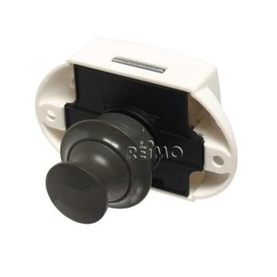 Push Lock - meubelslot grijs