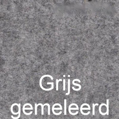 Wandbekleding naaldvilt stretch GRIJS GEMELEERD 200cm breed